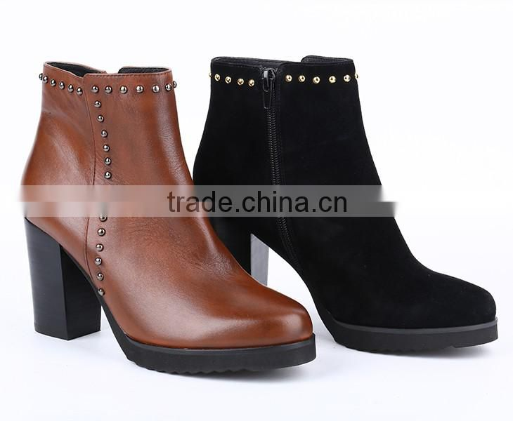 China gold supplier new design fashion casual ladies ankle boots