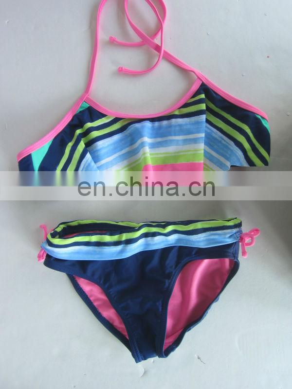 Junior Cute Stripe Bikini