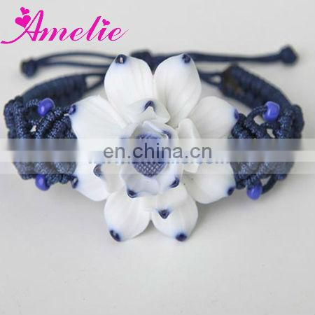 A0811 Beautiful Lotus Flower Ceramic Bracelet 2013 Wedding Favor
