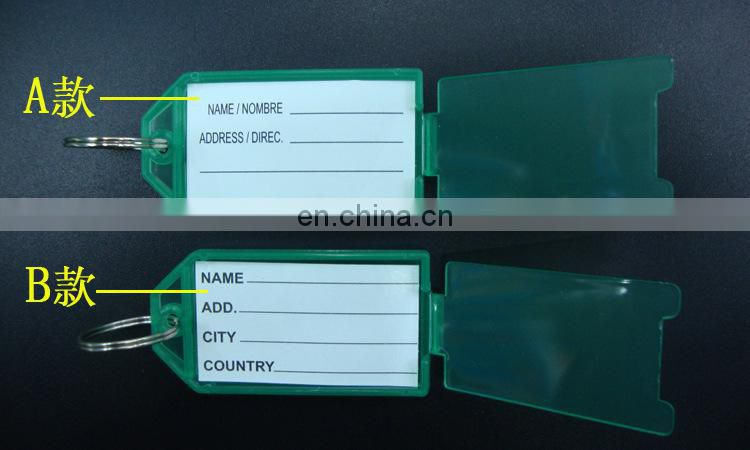 Winho Fluorescent Key Ring Plastic Name Tags Label Identify Keys in Safe Cabinet