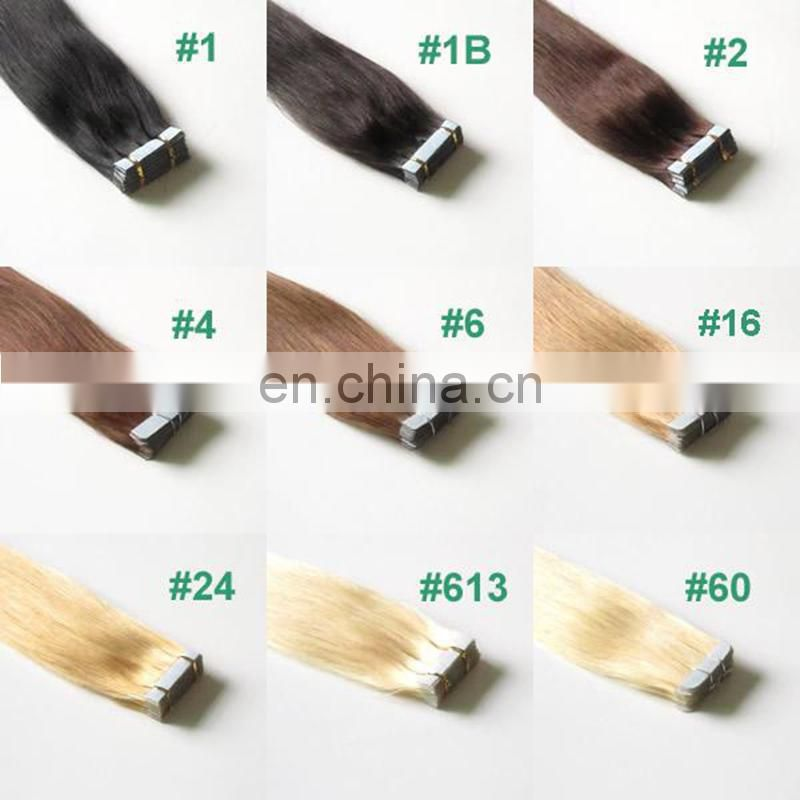 Wholesale colored tape hair extension human hair