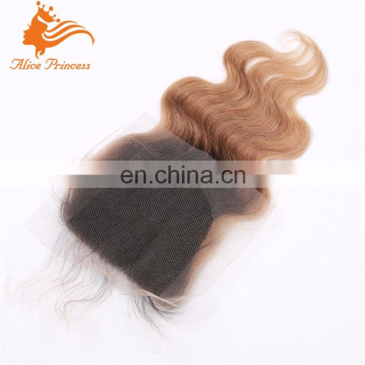 Body Wave Brazilian Ombre Frontal Virgin hair Blonde Lace Frontal Closure