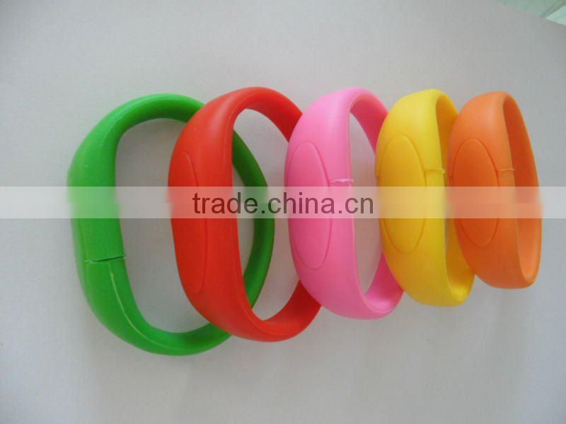 silicone bracelet for USB flash drive ,silicone usb disk wristband