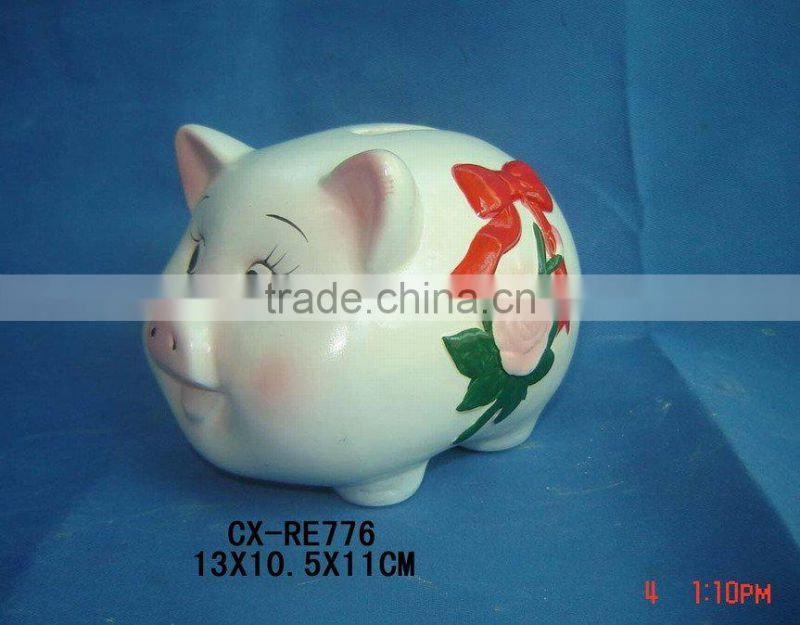 terra cotta rabbit design money bank-coin bank-ceramic rabbit bank for kid gift home decoration
