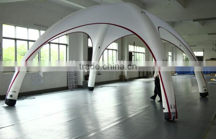 Inflatable geodesic 4 legs advertising tent