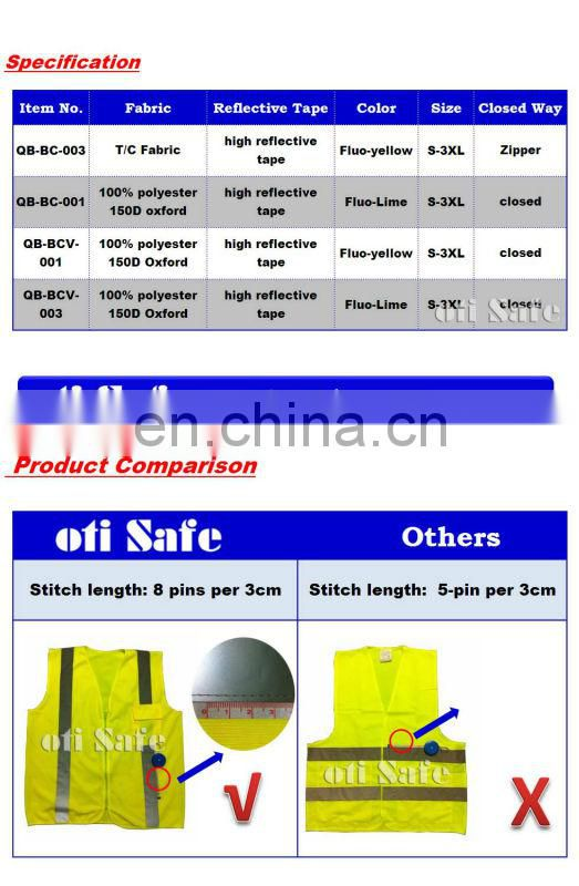 custom canvas high visibility reflective safety backpack