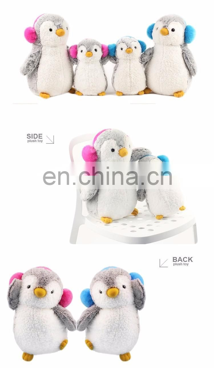 ICTI Audited Factory Custom Penguin Backpack Plush for Kids Toy