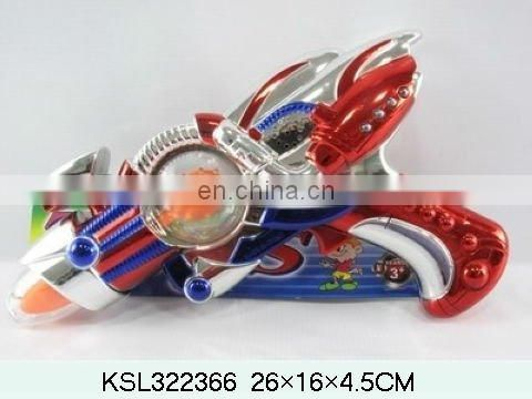 Red & Blue B/O space gun with turn light toy gun