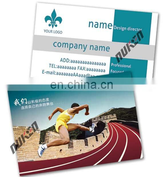 Best price lenticular 3d business card with plastic material
