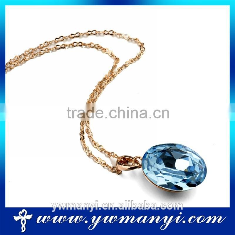 2016 wholesale newest rhinestone elegant blue crystal pendant