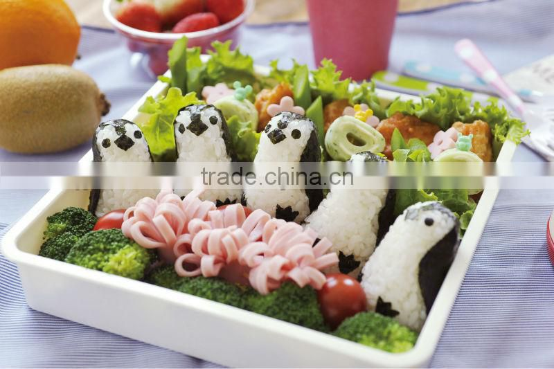 japanese food kitchenware best cookware cutter set animal baby plastic penguin toy rice ball set Baby penguin onirigi