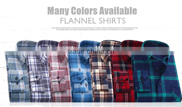 the lastest style Spring Fall 2016 New Mens Long Sleeve Slim Fit Comfort Soft Flannel Cotton Shirt Leisure Styles Man shirt