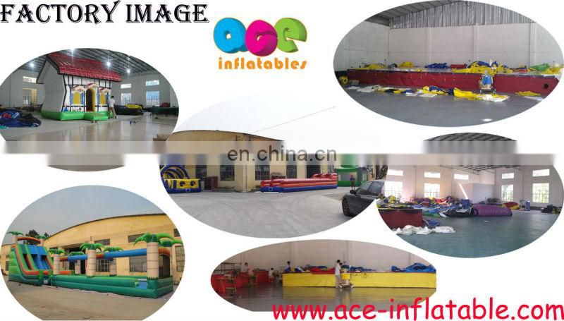 2014 high quality new design giant Inflatable green caterpillar obstacle course for sale