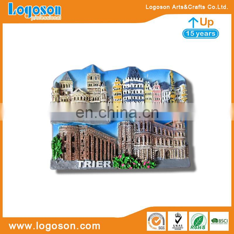 2018 Custom Made Souvenir Azerbaijan Cities Polyresin Fridge Magnet