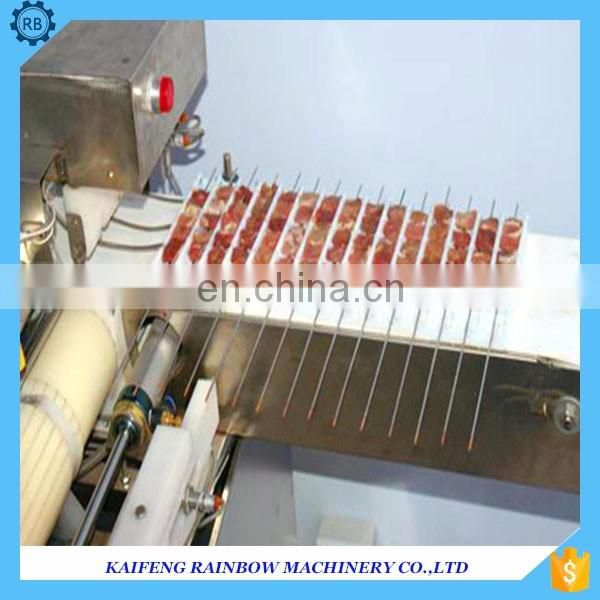 Stainless steel all kinds of meat string machine/meat wearing machine for bbp shop use