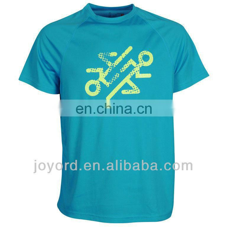 Custom quick dry running t shirt with sublimation