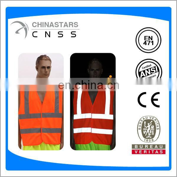 AS/NZS certified custom safety vest with reflective tape