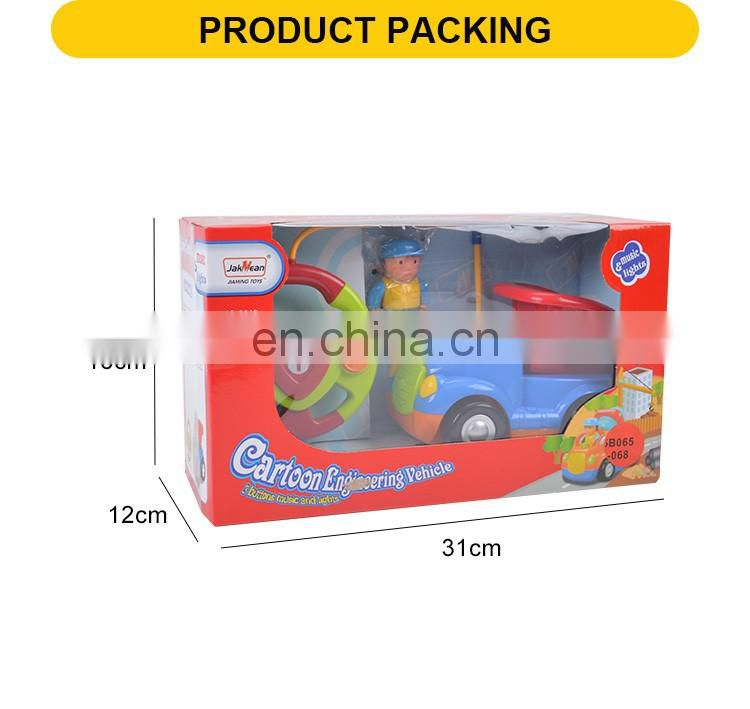 Hot sale 16cm 2channel plastic remote control cartoon dump toy truck