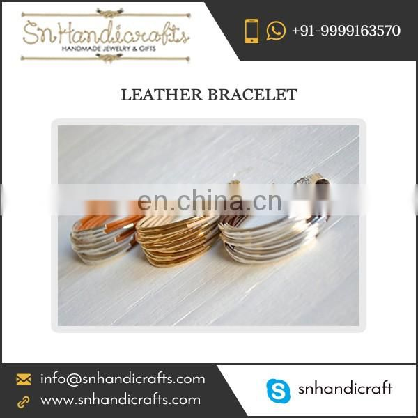 Buy Multistrand Leather Bracelet for Ladies at Dirt Cheap Rate from Wholesale Exporter of Market