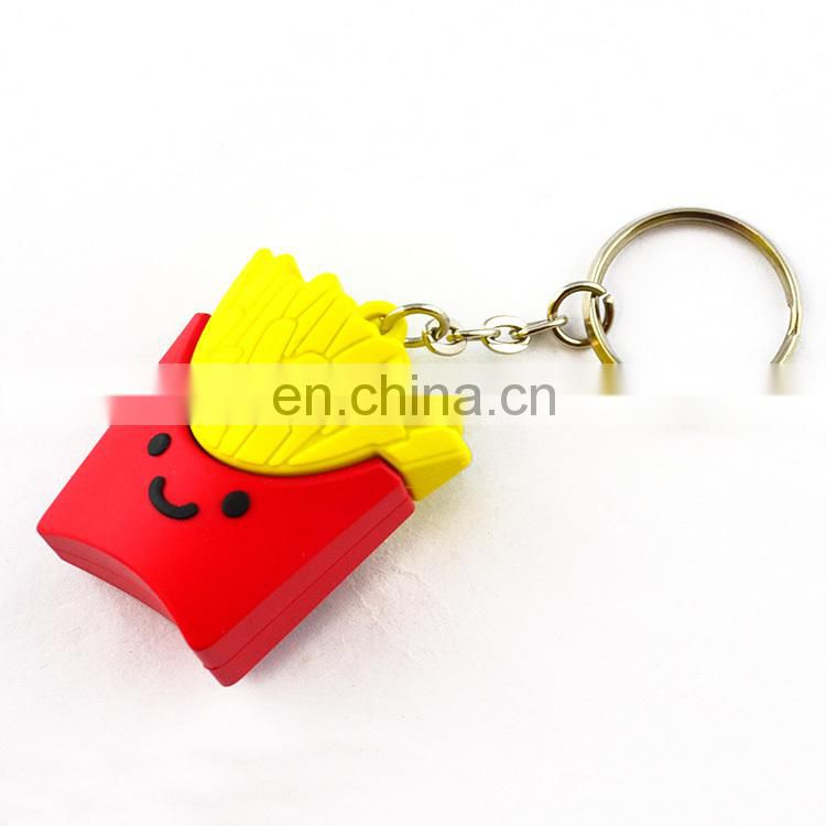 Custom 2d or 3d Rubber Soft PVC Key Holder Key Chain Keyring