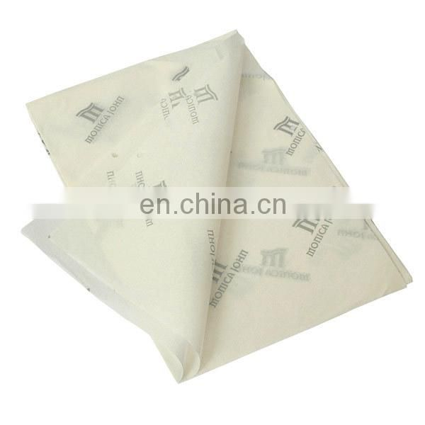 white custom logo tissue paper for wrapping shirts
