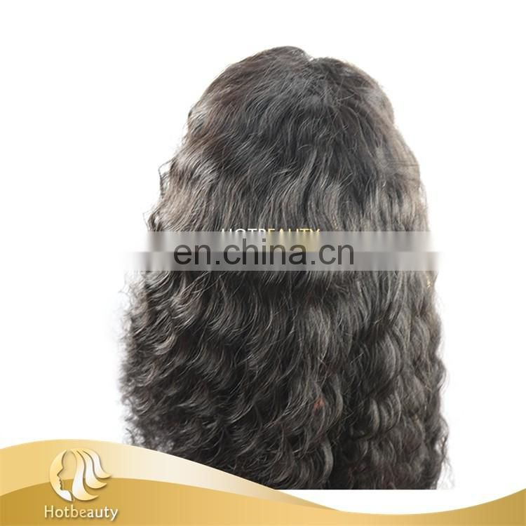 Hot Beauty Wig Making Supplier 100% Virgin Brazilian Hair Full Lace Wigs