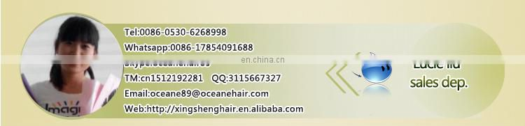 100% pure bulk human hair extension mozambique