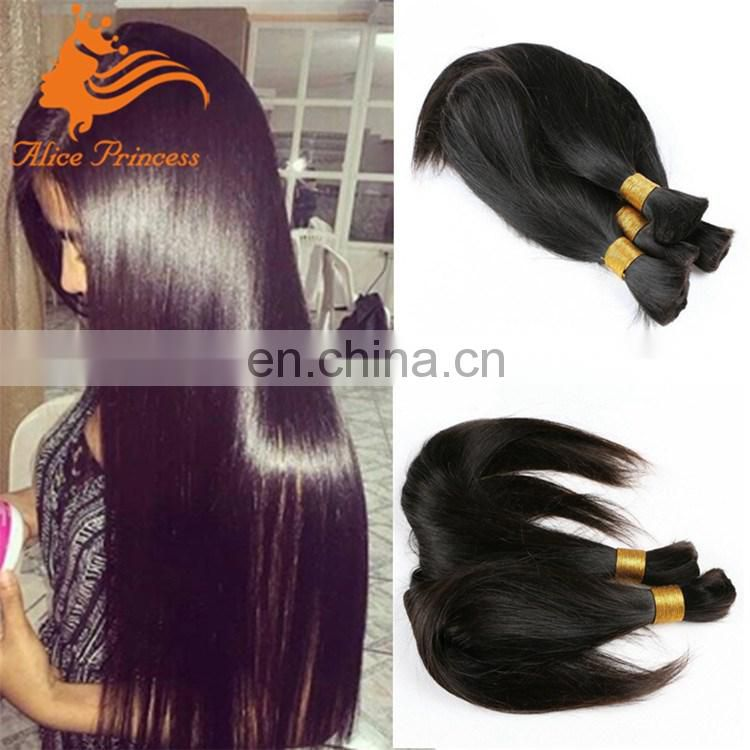 Human Bulk Braiding Hair Silky Straight Raw Virgin Russian Bulk Hair From One Donor