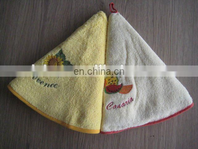100% cotton Round embroidery terry kitchen towel