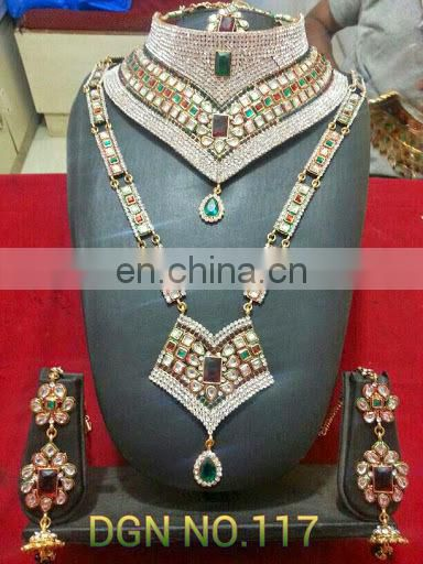 Wholesale Jodha Bridal set-Dulhan Bridal jewellery set- Inidan Bridal jewellery set-Bollywood Celebrity jewelry