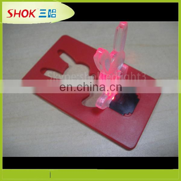 new product party supply glowing christmas led light card
