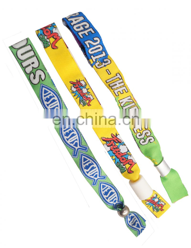 Hot sale cheap woven wristband for letterpress LOGO promotional gift