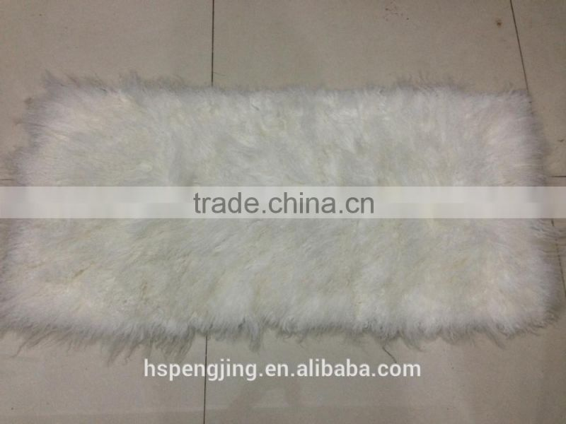 Mongolian lamb fur blanket plate in high quality for fur coat fur collar
