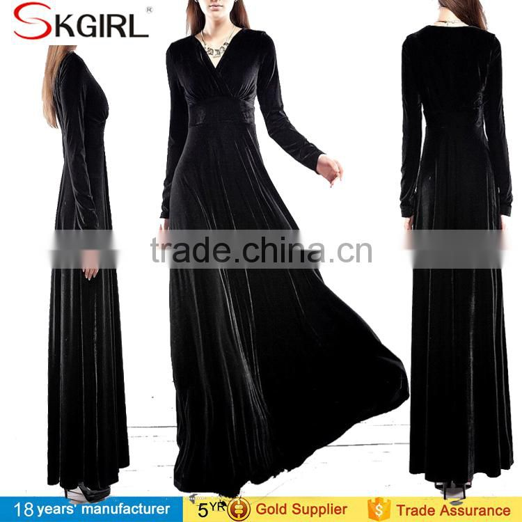 OEM Long Velvet Party Formal Evening Maxi Dress Prom Gowns