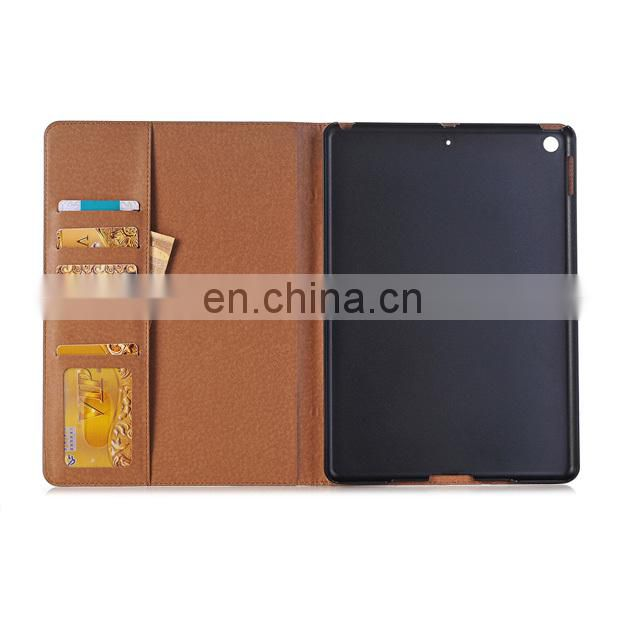 Retro Side Flip Wallet Style PU Leather + PC with Card Holder Stand Case for iPad 9.7 / iPad 9.7 (2017) / iPad 2017 IPAD 8