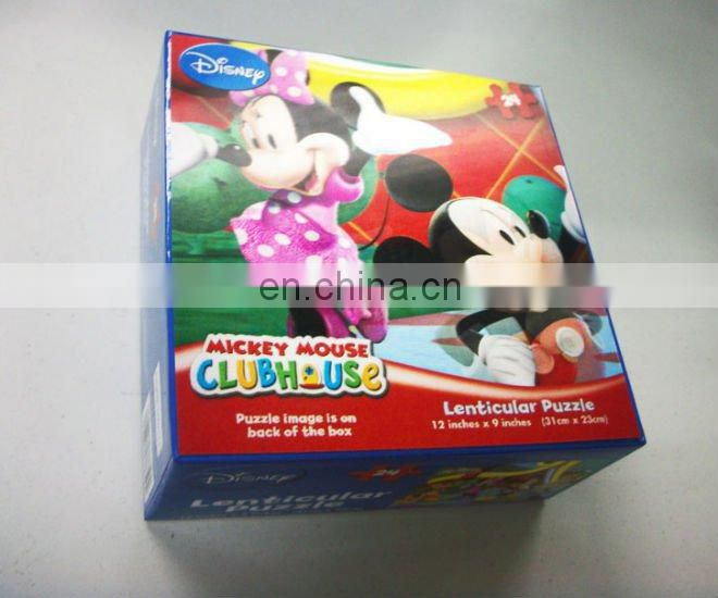 High quality 3D lenticular plastic packing box for holiday