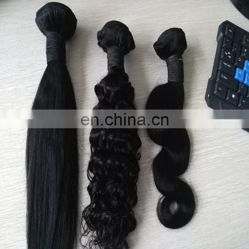 Top quality virgin peruvian hair weaves machine made no tangle no shedding various texture hair extensions
