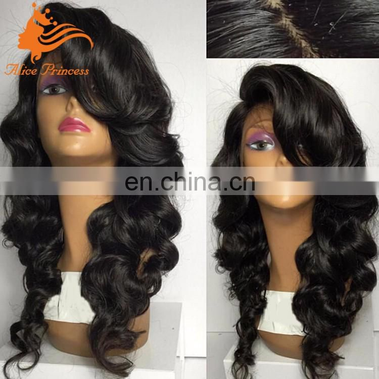 7A Grade Natual Brazilian Hair Lace Front Wig Virgin Human Hair Practice Wig With Baby Hair For Black Women