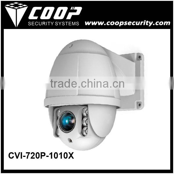 Coaxial Transmission 1.0MP PTZ Dome Camera 20X Optial Zoom Outdoor High Speed PTZ Camera 720P CVI PTZ