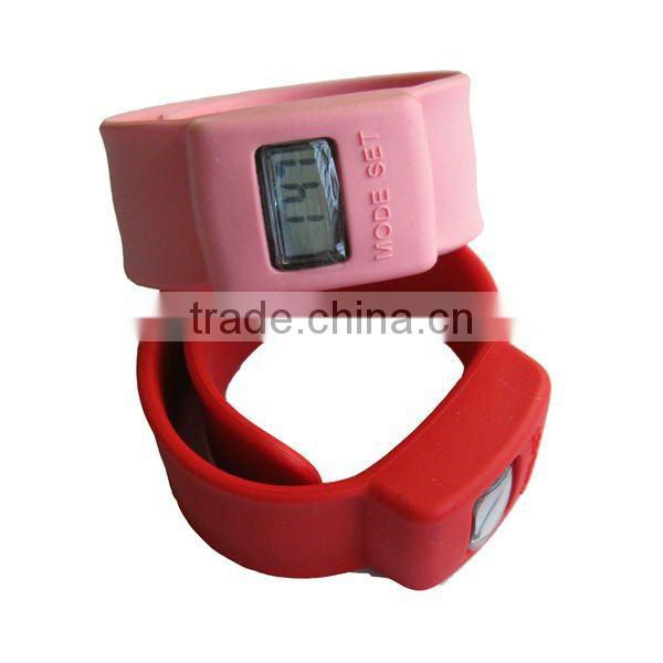 Silicone snap watch bands