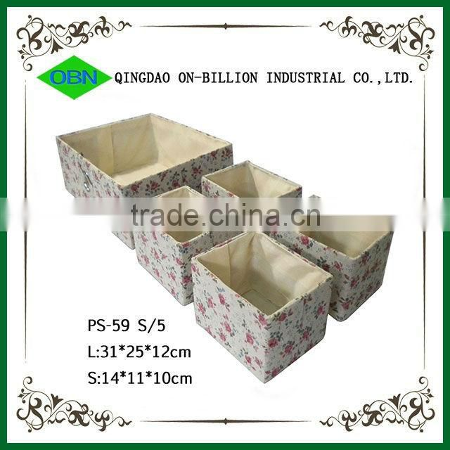 Basket lining sundries storage