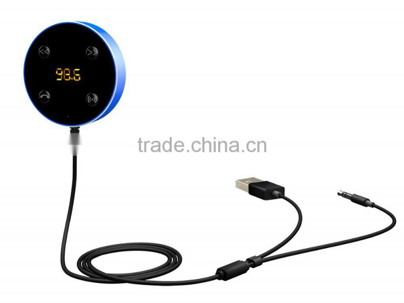 Bluetooth Car Kit FM Transmitter AUX Music Audio Receiver Hands-free 3.5mm with Dual USB Charger Car Accessories