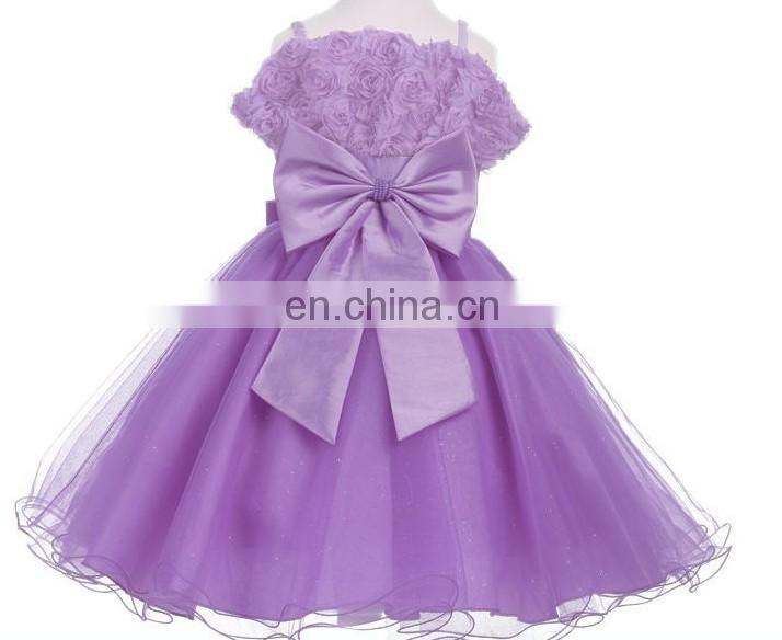 Lavender Flower Baby Girl Dress Vintage Bow Tulle Slip Dress Maxi Princess Costume Party Invitation