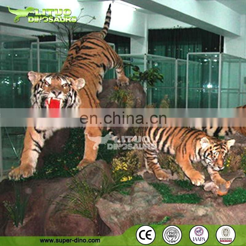 Amusement Park Show Large Animatronic Animals Model Of Tiger
