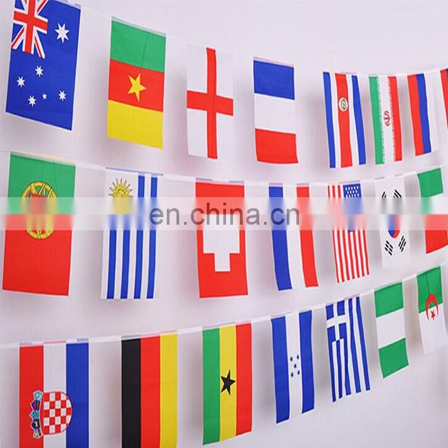 Full color printing custom PVC bunting party banner