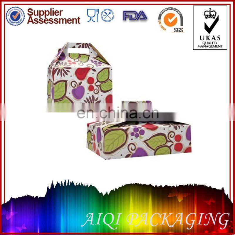 Custom Printed Take Out Paper Noodle Boxes with Handle