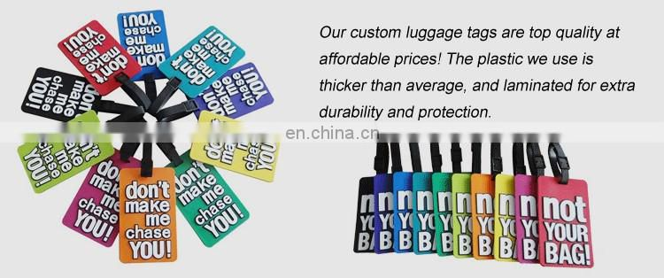 Factory Customized custom design printed waterproof silicone luggage tags