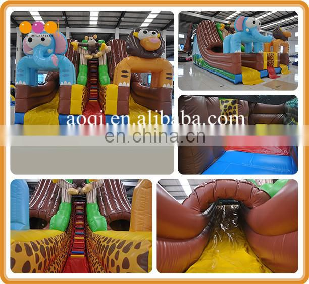 child inflatable climbing jump dry/wet duel slides for business