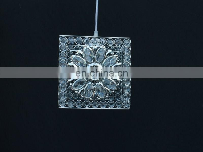 4-Tiered Faceted Acrylic Beaded Chandelier