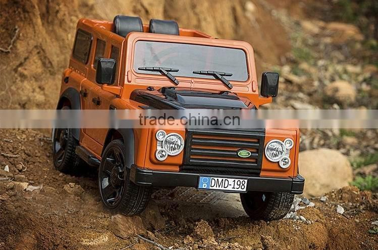 Licensed land rover children battery car with RC ride on car